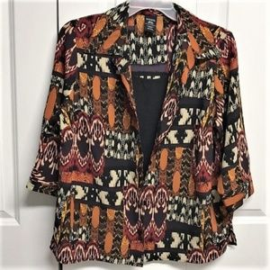 George Layered Look Blouse Size 2X Multi Design